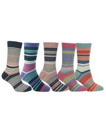 Possum Merino Multi Stripe Socks