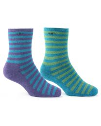 Possum Merino Stripe Cushion Socks
